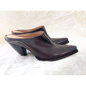 Charlie 1 Horse Leather Mules Slides
